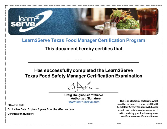 Discount Texas Food Managers